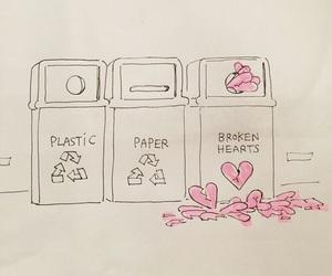 love, broken heart, and art image