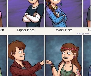 gravity falls, dipper, and mabel image