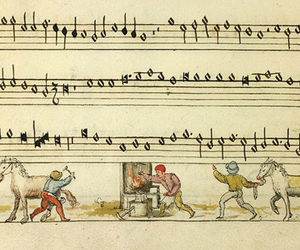 music, music sheets, and illustrate image