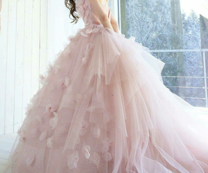 bridal, gown, and pretty image