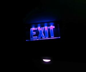 exit, lights, and neon image