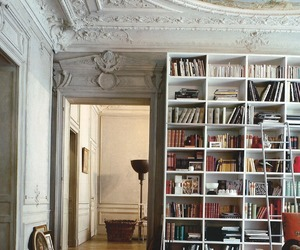 classic, white, and library image