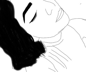 draw, face, and blanco y negro image