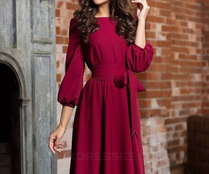 evening dresses, long sleeves, and mother of the bride dress image