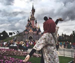 girl, hijab, and disney image