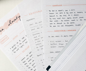 handwriting, study, and pretty notes image