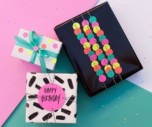 colorful, gift, and happy image