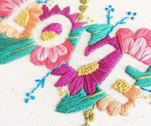 diy, embroidery, and flowers image