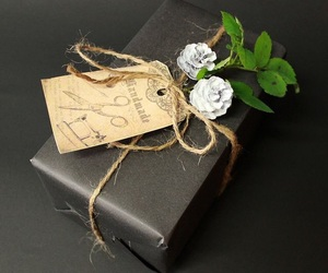 gift, present, and wrapping image