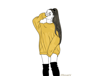 outlines, tumblr, and ariana grande image
