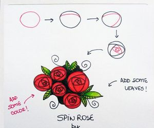 rose, art, and pattern image