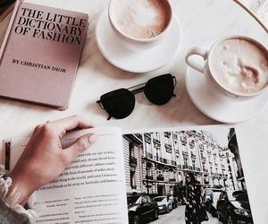 coffee, book, and magazine image