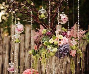 flowers, wedding, and garden image