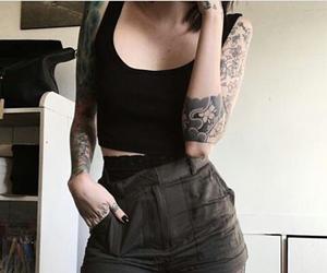rock, tattoo, and tatto image