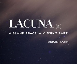 lacuna, latin, and missing part image