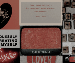 grunge, header, and red image