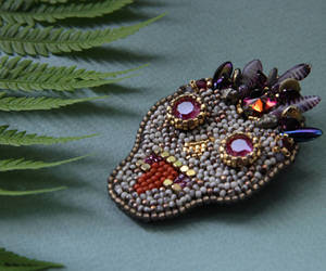 etsy, fashion brooch, and beadwork brooch image