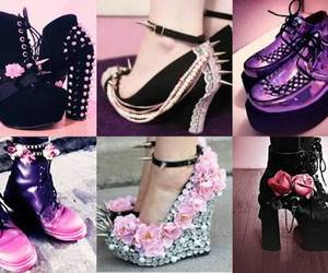 pastel goth and shoes image