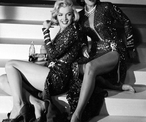 Marilyn Monroe, Jane Russell, and vintage image