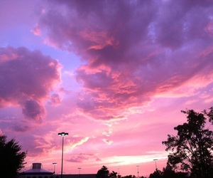 sky, pink, and purple image