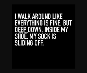 funny, quotes, and socks image