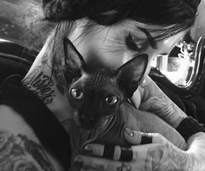 black and white, tattoo, and cute image