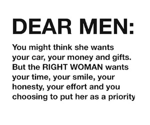 men, woman, and quote image
