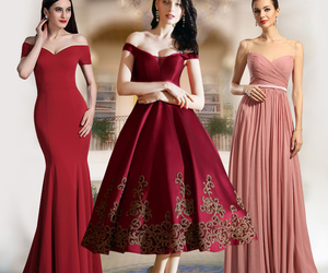 cocktail dress, red dress, and evening dress image