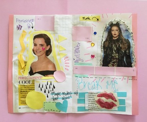 Collage, emma watson, and feminism image