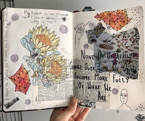 art, diary, and inspiration image