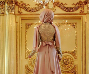 muslim, dress, and hijab image