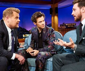 late late show, james corden, and Harry Styles image