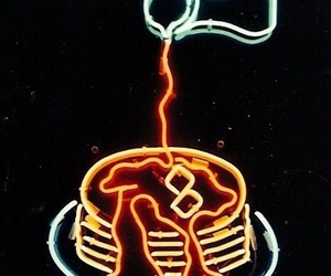 neon, breakfast, and pancakes image