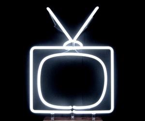 neon, light, and tv image