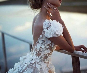 dress, bride, and fashion image