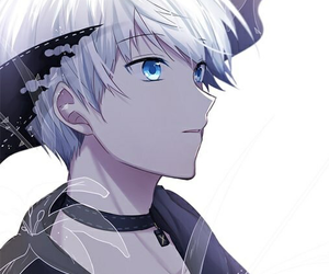 blue eyes, 9s, and white hair image