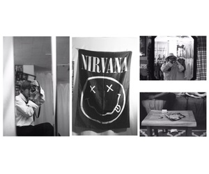 aesthetic, black and white, and v image