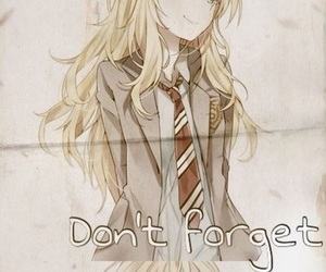 anime, your lie in april, and anime girl image