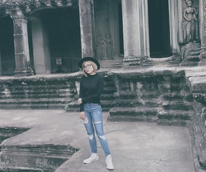 Cambodia, converse, and girl in black image