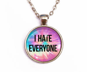 angry girl, etsy, and rainbow necklace image