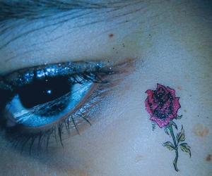 eye, grunge, and lagrima image
