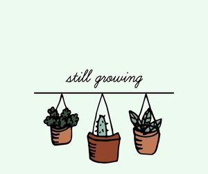 wallpaper, plants, and quotes image