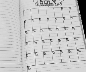 black and white, calender, and dates image