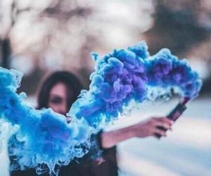 blue, photography, and smoke image