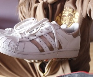 golden, white, and shoes image