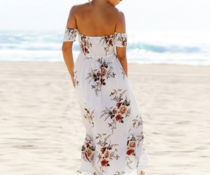 chiffon, fashion, and floral print image