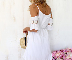 boho, summer, and off shoulder image