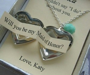 wedding, heart, and maid of honor image