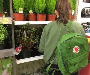 green, plants, and girl image