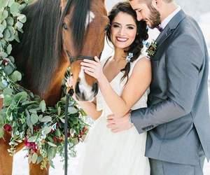 animals, couple, and wedding image